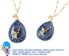 Super Cute Fantasia Mickey Dreamy Necklace:   #rinkya #japan #qpot #japanfashion #disney