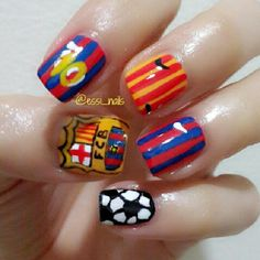essi_nails FC barcelona #nail #nails #nailart
