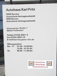 Autohaus Fritz Pfullendorf Mini Cooper BMW Fachhandel. BauFachForum Baulexikon Seepark Pfullendorf. www.BauFachForum.de