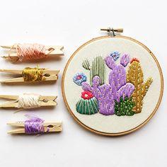 Cactus Study Hand Embroidery PDF Pattern - Gulush Threads