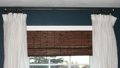 Shine Your Light: DIY Curtain Rods - wall colour and contrast