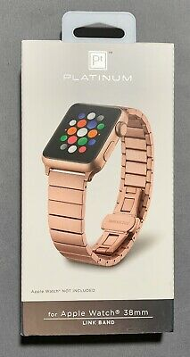 Platinum Stainless Steel Link Watch Band For Apple Watch Rose Gold Ebay In 2020 Rose Gold Apple Watch Apple Watch Silver Apple Watch 38mm