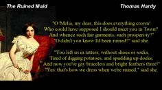 POEM ~ The Ruined Maid  by Thomas Hardy * with text