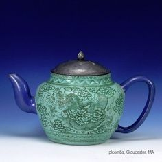 19th C. or Earlier Chinese Yixing Dragon Enamel Decorated Teapot, Signed Base , Sold on eBay, http://www.bidamount.com/