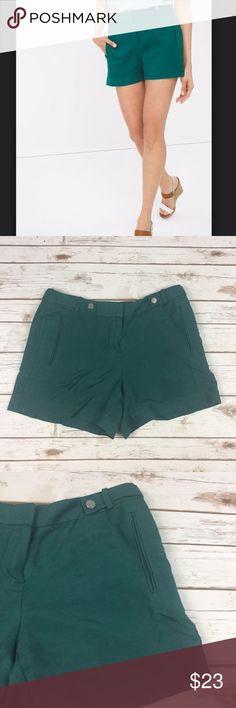 Selling this WHBM White House Black Market Green Shorts NWOT on Poshmark! My username is: twiggytradingco. #shopmycloset #poshmark #fashion #shopping #style #forsale #White House Black Market #Pants