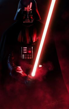 Star Wars - Darth Vader by Rahzzah on deviantART ; Star Wars Fan Art, Anakin Vader, Anakin Skywalker, Darth Vader Lightsaber, Darth Vader Movie, Star Wars Pictures, Star Wars Images, Star Wars Sith, Star Trek