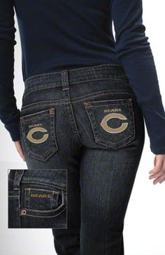 Touch by Alyssa Milano Chicago Bears Denim Jeans
