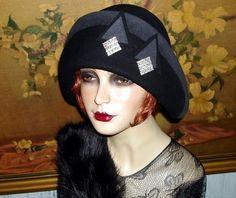 Bauhaus Art Deco~CLOCHE COUTURE~1920s/30s OOAK VTG Flair Flapper Hat L   eBay