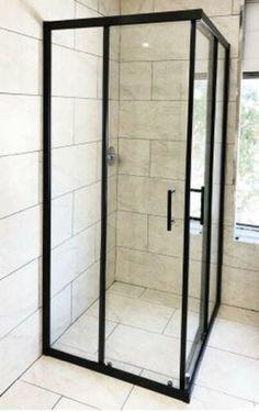Corner Shower Doors, Corner Shower Enclosures, Bath Shower Screens, Framed Shower Door, Bathroom Shower Doors, Glass Shower Doors, Bathroom Ideas, Shower Door Rollers, Glass Hinges