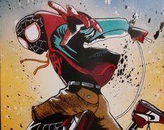 Spray Art By Joe by SprayArtByJoe on Etsy Comic Book Characters, Comic Books, Fictional Characters, Etsy Seller, Superhero, Comics, Unique Jewelry, Handmade Gifts, Vintage