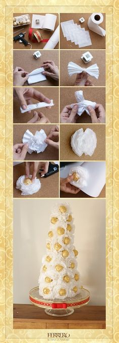 Sorprende a tus invitados con lindo pino hecho de Ferrero Rocher #DIY