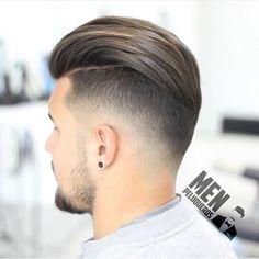 Men's Slicked Back Haircut - Best Men's Slicked Back Hair + Undercut Hairstyles For Men Best Undercut Hairstyles, Cool Hairstyles For Men, Hairstyles Haircuts, Haircuts For Men, Latest Hairstyles, Clean Cut Haircut, Low Fade Haircut, Haircut Men, Haircut Style