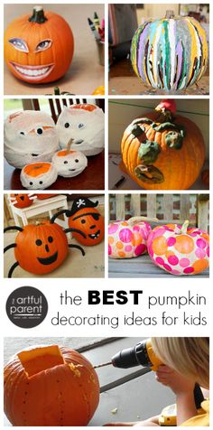 Super fun pumpkin decorating ideas for kids that they can actually do!