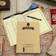 Luckies Scratch Map Travelogue Reisdagboek