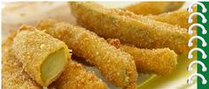 Spicy Fried Pickle Sticks and Dip