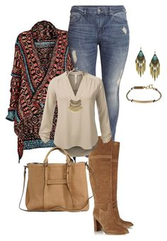 """plus size fall/winter boho chic"" by kristie-payne ❤ liked on Polyvore"