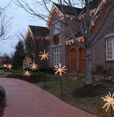 "Christmas Outdoor Decorations | Making Seasons Bright"" star light star bright."