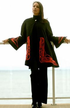 Here's a coat by Haida (Alaskan Indian) designer Dorothy Grant.