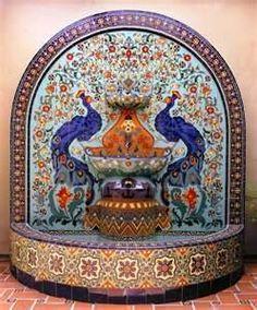 malibu pottery - peacocks