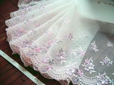 Lace trim Tulle lace Embroidered lace Net lace by raincrazy133, $10.99