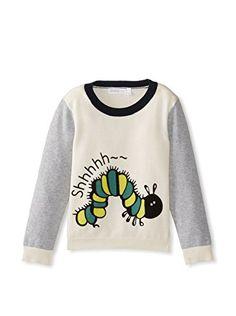 Shae Girl's Caterpillar Sweater (White)