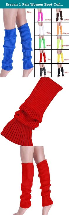 "Ikevan 1 Pair Women Boot Cuffs Warmer Socks Knit Leg Stockings (red). Feature: 100% Brand New And High Quality Material:Acrylic For adult Color:Back,Yellow,LightGreen,Orange,Coffee,Gray,Blue,Red,Green,White,HotPink Item can keep warming, protect your legs It is very warm and the design is keep up with the fashion The necessary accessory for the winter season when you go outside Length:44cm/17.3"" Package Content: 1Pair Warmer Leg Stockings ."