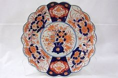 Blue & Orange imari plate