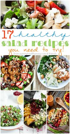 I've rounded up 17 Must-Try {Healthy} Salad Recipes just for you!