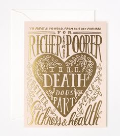 Rifle Paper Co. 'Till Death Do Us Part Card