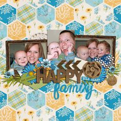 3 image digital scrapbooking layout. credits: Wide Open Spaces by Kristin Cronin-Barrow, Alpha Files number 20 by Krystal Hartley