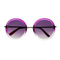 Womens Retro Vintage Style Large Circle Round Sunglasses R2550