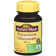 Nature Made Potassium Gluconate 550mg 200 Tablets Heart Muscle List No 1358 031604013585 | eBay