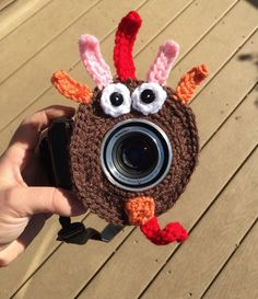 A personal favorite from my Etsy shop https://www.etsy.com/listing/253461237/turkey-lens-buddy-crochet-camera-critter