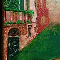 Aesthetic Acrylic on canvas Paintings, Canvas, Building, Art, Tela, Art Background, Paint, Painting Art, Buildings