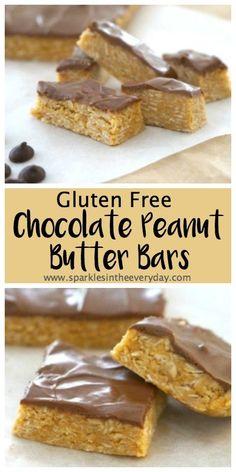 Gluten Free Chocolate Peanut Butter Bars!