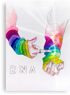 'BTS - DNA' Scarf by k-stuffy Millions of unique designs by independent artists. Find your thing. Dna Drawing, Drawing Sketches, Scarf Drawing, Kpop Drawings, Pencil Art Drawings, Bts Art, Bts Anime, Fanart Bts, Bts Chibi