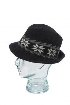 This classic adult felted Norwegian wool hat will keep the heat in during the colder months. Decorated in traditional Nordic snowflake motif with contrast and style. Wool Hats, Hat Making, Norway, Snowflakes, Felt, Detail, Classic, Image, Style