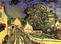Vincent van Gogh:  The House of Pere Pilon. Oil on canvas.  Auvers-sur-Oise: May, 1890.  Collection Niarchos.