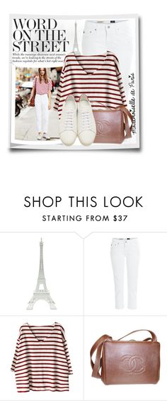 """""""White jeans"""" by myfashionwardrobestyle ❤ liked on Polyvore featuring Merci Gustave!, AG Adriano Goldschmied, Chanel and Yves Saint Laurent"""