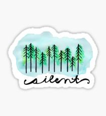 silent in the trees , Watercolored - trees - twenty one pilots Sticker