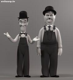 Evil corporation Vinyl toy, Stan & Ollie