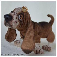Бассет...чем не король 😂🙈а может и принц 😍 #щенок #собака #собачка #вязаниекрючком #вязание #вязанаяигрушка #амигуруми #вяжутнетолькобабушки #amigurumi #weamiguru #crochet #knitting #crochettoy #häkeln #häkeltiere #handmade #handarbeit #dog #hund #foradoption #arttoy #cuties #basset #бассет