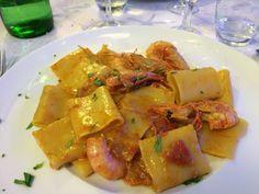 """Pâtes aux fruits de mer - Carnet de voyage """"A la découverte de l'Italie été 2015"""""""