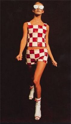 Fashion by Andre Courreges, 1960s,