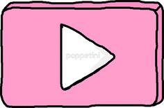 «Pink YouTube logo» de poppetini