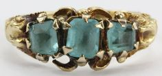 Antique Georgian / Regency 18k Gold Blue Stone Ring