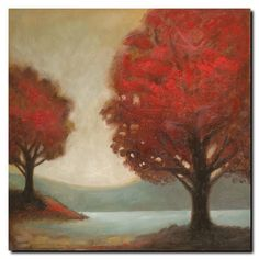 'Modern Landscape' by Joval Painting Print on Canvas
