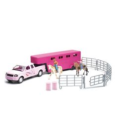 Look what I found on #zulily! Pick-Up Truck & Valley Ranch Play Set #zulilyfinds