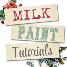 Milk Paint Tutorials