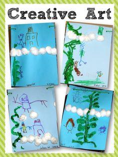 Building comprehension through art. Jack and the Beanstalk. Building comprehension through art. Nursery Rhymes Preschool, Preschool Themes, Preschool Activities, Preschool Decorations, Traditional Tales, Traditional Stories, Eyfs Jack And The Beanstalk, Fairy Tales Unit, Fairy Tale Theme